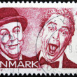 DENMARK - CIRCA 1999: A stamp printed in Denmark shows Kjeld Petersen and Dirch Passer, circa 1999 — Stock Photo