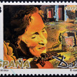 SPAIN - CIRCA 1994: A stamp printed in Spain shows portrait of Gala by Salvador Dali, circa 1994 — Stock Photo #10209421