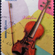 Stock Photo: SPAIN - CIRC2011: stamp printed in Spain shows violin, circ2011