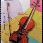 SPAIN - CIRCA 2011: A stamp printed in Spain shows a violin, circa 2011 — Stock Photo