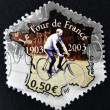 FRANCE - CIRC2003: stamp printed in France dedicated to Tour of France, circ2003 — Stok Fotoğraf #10209509