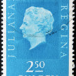 HOLLAND - CIRCA 1969: A stamp printed in the Netherlands showing a portrait of Queen Juliana, circa 1969. — Stock Photo