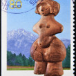 Stok fotoğraf: JAPAN - CIRC1998: stamp printed in Japshows Venus of Jaman, circ1998