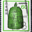 图库照片: JAPAN - CIRC1980: stamp printed in Japshows Hanging Bell, Byodoin Temple, circ1980