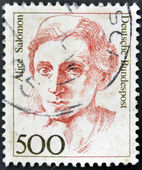 GERMANY-CIRCA 1989:A stamp printed in Germany shows image of Alice Salomon,circa 1989. — Stock Photo