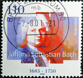 GERMANY - CIRCA 2000: A Stamp printed in the Germany shows portrait of the composer Johann Sebastian Bach, circa 2000. — 图库照片