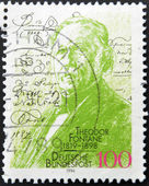 GERMANY - CIRCA 1994: A stamp printed in Germany, dedicated to the 75th anniversary of the birth Theodore Fontane, circa 1994 — Stock Photo