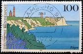 германия - около 1993: марку, напечатанную в германии показывает остров рюген, около 1993 — Стоковое фото