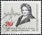 GERMANY - CIRCA 1984: stamp printed in Germany shows Friedrich Wilheln Bessel, circa 1984. — Stock fotografie