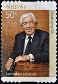 AUSTRALIA - CIRCA 2008: A stamp printed in Australia dedicated to australian legends, shows Frank Lowy Ac, circa 2008 — Stock Photo