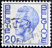 BELGIUM - CIRCA 1980: A Stamp printed in Belgium shows the portrait of a Baudouin I, circa 1980 — Stock Photo