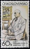 CZECHOSLOVAKIA - CIRCA 1986: A stamp printed in Czechoslovakia shows portrait of Otakar Kubín, circa 1986 — Stock Photo