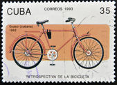 CUBA - CIRCA 1993: A stamp printed in Cuba dedicated to retrospective of the bike, circa 1993 — Stock Photo