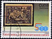 куба - около 1988: штамп напечатан на кубе, показывает историю латинской америки, около 1988. — Стоковое фото