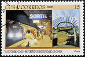 CUBA - CIRCA 2008: A stamp printed in Cuba dedicated to subways, shows Paris subway, circa 2008 — Stock Photo