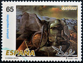 SPAIN - CIRCA 1994: A stamp printed in Spain shows The Endless Enigma by Salvador Dali, circa 1994 — Stok fotoğraf