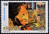 SPAIN - CIRCA 1994: A stamp printed in Spain shows portrait of Gala by Salvador Dali, circa 1994 — Stock Photo