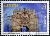 SPAIN - CIRCA 2012: A stamp printed in Spain dedicated to arches and monumental gates, shows Arco de Santa Maria in Burgos, circa 2012 — Stock Photo