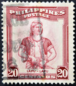 PHILIPPINES - CIRCA 1970: A stamp printed in Philippines shows Lapu-Lapu was the datu of Mactan, an island in the Visayas in the Philippines, circa 1970 — Stock Photo