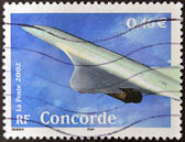 France - vers 2002 : un timbre imprimé en france montre concorde, circa 2002 — Photo