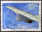 Francia - circa 2002: un sello impreso en francia muestra concorde, circa 2002 — Foto de Stock