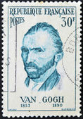 FRANCE - CIRCA 1950: A stamp printed in France shows self-portrait of the artist Van Gogh, circa 1950 — Stock Photo