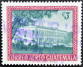 GUATEMALA - CIRCA 1970: A stamp printed in Guatemala shows Coban Palace, circa 1970 — Stockfoto