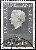 Nederländerna - circa 1979: en stämpel som tryckt i holland visar bilden av drottning juliana, circa 1979 — Stockfoto
