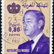 MOROCCO - CIRCA 1981: A stamp printed in Morocco shows King Hassan II (Moulay Hassan II Muhammad ben Yusuf). circa 1981 — Stock Photo