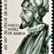 PANAMA - CIRCA 1963: A stamp printed in Panama shows Vasco Nuñez de Balboa, circa 1963 — Stock Photo