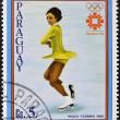 PARAGUAY - CIRCA 1983: A stamp printed in Paraguay shows Peggy Fleming, circa 1983 - Stock Photo