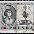 POLAND - CIRCA 1969: A stamp printed in Poland, shows portrait of the Polish astronomer Nicolaus Copernicus, circa 1969 - Stock Photo