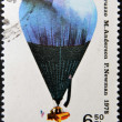 POLAND- CIRCA 1981: a stamp printed in Poland, shows air-balloon flown by B. Arbuzzo, M. Anderson, P. Newman, 1978, circa 1981 — Stock Photo
