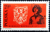 POLAND - CIRCA 1973 : Stamp printed in Poland, showing Nicolaus Copernicus, circa 1973 — Stock Photo