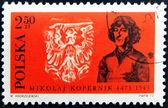 POLAND - CIRCA 1973 : Stamp printed in Poland, showing Nicolaus Copernicus, circa 1973 — Stock Photo