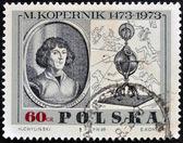 POLAND - CIRCA 1969: A stamp printed in Poland, shows portrait of the Polish astronomer Nicolaus Copernicus, circa 1969 — Stock Photo