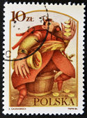POLAND - CIRCA 1986: A stamp printed in Poland dedicated to Polish legends, shows The Devil Boruta, circa 1986 — Stock Photo