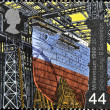UNITED KINGDOM - CIRCA 1999: A stamp printed in Great Britain dedicated to Millennium shows  Ship building, circa 1999 — Stock Photo
