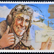 UNITED KINGDOM - CIRCA 1994: A stamp printed in Great Britain shows the comic hero, Biggles, circa 1994 — Stock Photo