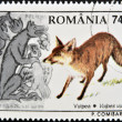 ROMANIA - CIRCA 1996: A stamp printed in the Romania, shows the Red fox (Vulpes vulpes), circa 1996 — Stock Photo #10220202