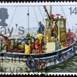 UNITED KINGDOM - CIRCA 1981: A stamp printed in Great Britain shows image of Fishing, circa 1981 — 图库照片