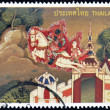 THAILAND - CIRCA 1998: A stamp printed in Thailand dedicated to visakhapuja day, circa 1998 — Stock Photo #10220442