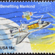UNITED STATES OF AMERIC- CIRC1981: stamp printed in USshows Benefiting Mankind, circ1981 — Stock Photo #10220546