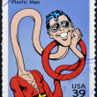 UNITED STATES OF AMERICA - CIRCA 2006: stamp printed in USA shows Plastic Man, circa 2006 — Stock Photo