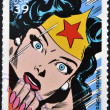 Stock Photo: UNITED STATES OF AMERIC- CIRC2006: stamp printed in USshows Wonder Woman, circ2006