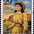 UNITED STATES OF AMERICA - CIRCA 1994 : Stamp printed in USA shows Annie Oakley, American sharpshooter and exhibition shooter in old west , circa 1994 — Stock Photo