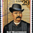 UNITED STATES OF AMERICA - CIRCA 1994 : Stamp printed in USA shows William Barclay Bat Masterson, lawman in the American Old West, circa 1994 - Stock Photo