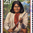 UNITED STATES OF AMERICA - CIRCA 1994: Stamp printed in USA show Geronimo, Native American leader and medicine man of the Chiricahua Apache, circa 1994 — Stock Photo