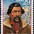 UNITED STATES OF AMERICA - CIRCA 1994 : Stamp printed in USA shows Jim Beckwourth, circa 1994 — Stock Photo