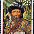 UNITED STATES OF AMERICA - CIRCA 1994 : Stamp printed in USA with James Jim Bridger, circa 1994 — Stock Photo